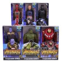 Marvel Titan герои Мстители Бесконечность войны танос Железный паук Капитан Америка Черная пантера Халк халкбастер фигурку игрушки
