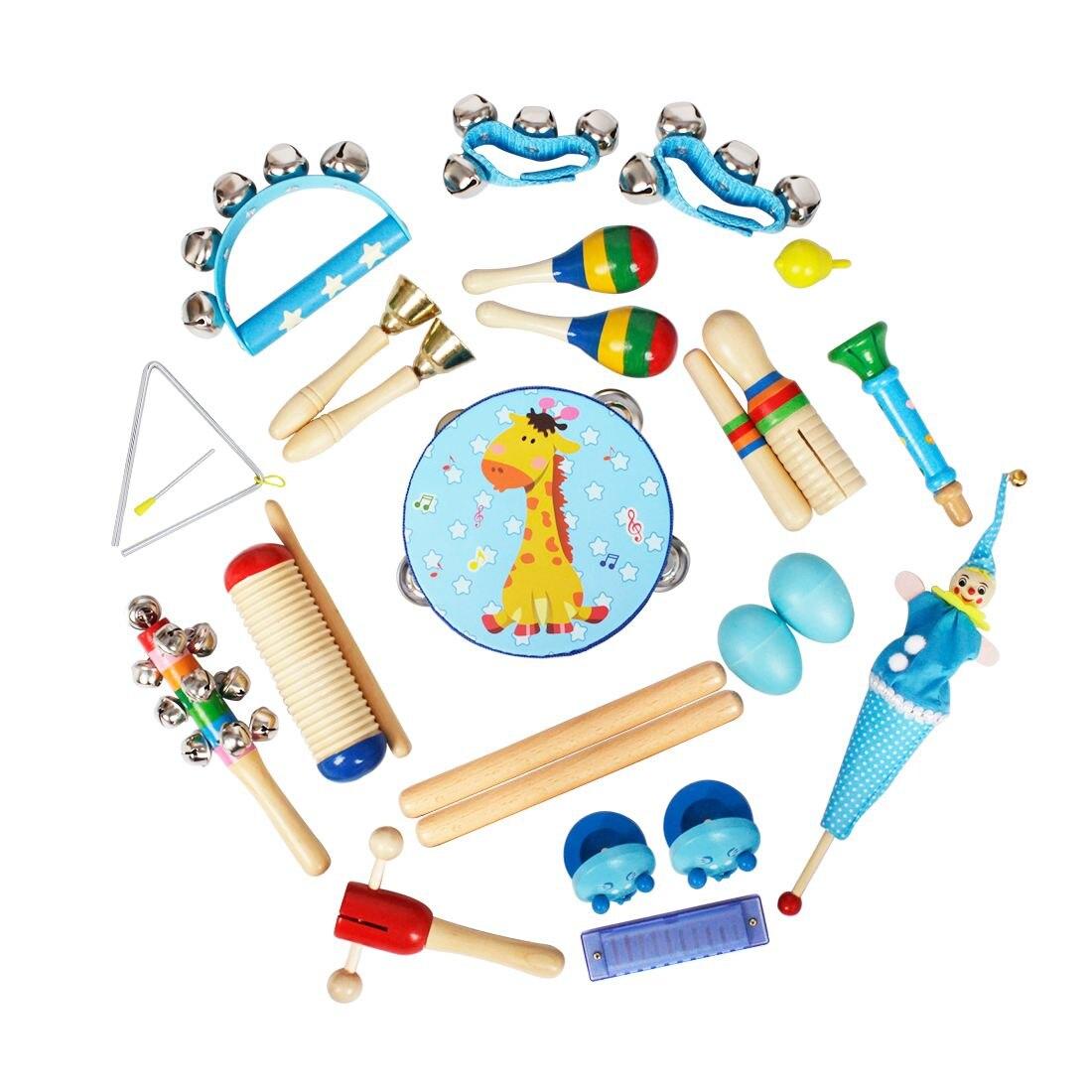 22pce/set Orff Muziekinstrumenten Set Kinderen Vroege Jeugd Muziek Percussie Speelgoed Combinatie Kleuterschool Leermiddelen