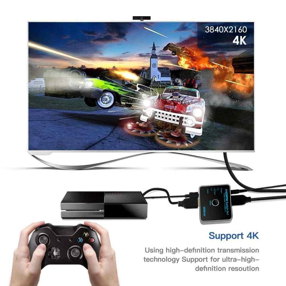 HDMI коммутатор 3x1 3 порта HDMI 2,0 коммутатор SGEYR коммутатор 4K Ultra HD 4 K/60Hz HDR 4:4:4 HDCP 2,2 коммутатор с ИК-пультом дистанционного управления