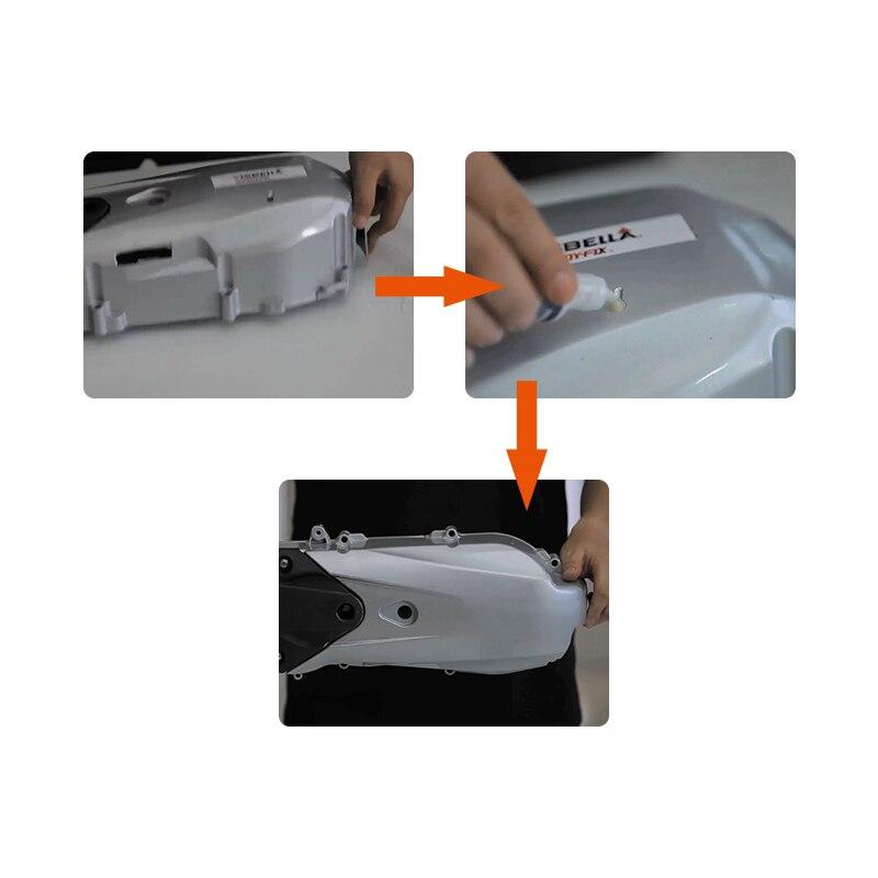 Visbella 7 Second Speedy Fix Bonding Glue for Metal Steel Plastic Wood Rubber Ceramic Reinforcing Adhesive Repair Hand Tool Set