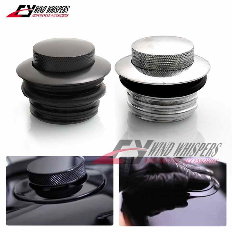 Color : Black Motorcycle fuel tank cap Flush Pop-up Gas Vented Cap Tank Cover//Fit For Harley Davidson Dyna Street Bob//Fit For Softail Sportster 883 1200