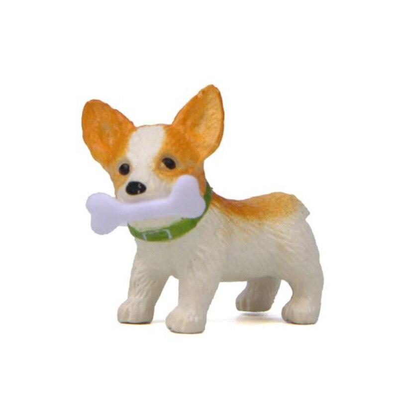 1 Pc Cute Bones Corgi Dog Action Figure Toy Cartoon Animal Model PVC Ornament Doll Toy-0