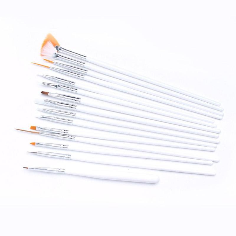 20 pièces Nail Art peinture stylo ensemble ongles pointillé dessin vernis pinceaux outil brosses pour manucure ongles brosse accessoires - 5