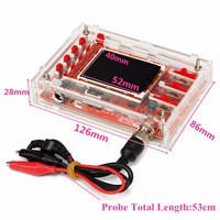 DSO138 2.4 TFT Digital Oscilloscope Kit DIY Parts + Acrylic DIY Case Cover S9N2 Case Size 126 x 86 x 28mm Electronics Stocks