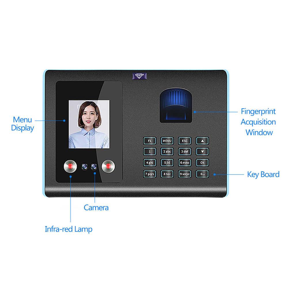 Inteligentny maszyna obsługująca twarzy hasło odcisków palców uznanie Mix biometryczny linii papilarnych czas zegar dla pracowników