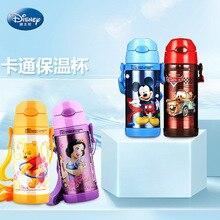 Disney bonito dos desenhos animados 2019 nova moda portátil copo de preservação calor crianças otário aço inoxidável chaleira água com copo água