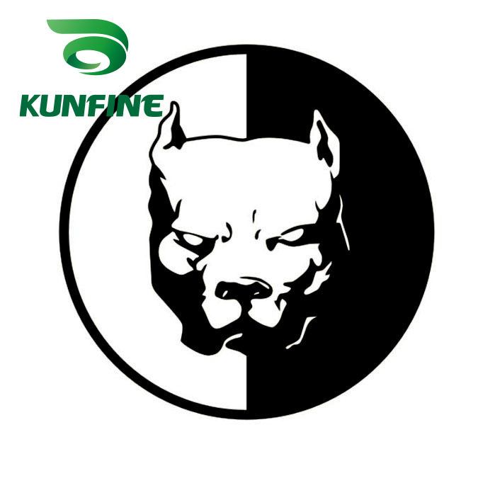 KUNFINE Car Styling Sticker Pitbull Super Hero Dog Car Sticker Vinyl Decal Decoration Film Car Diy Sticker Tuning Parts