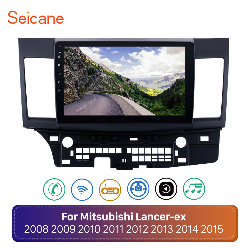 "Seicane 10.1"" 2Din Android 8.1 Touchscreen GPS Car Radio Audio Stereo Multimedia Player For 2008 2009-2015 Mitsubishi Lancer-ex"