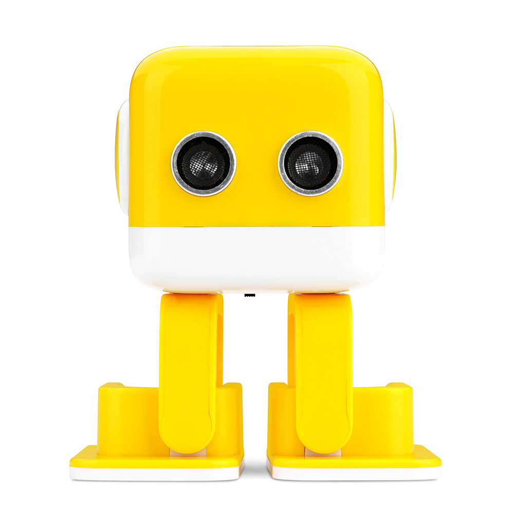 WLtoys F9 Cubee APP Control Intelligent Dancing Gesture RC Robot RTR - Yellow/Blue Robot Gift For Kids Entertainment Music Toys