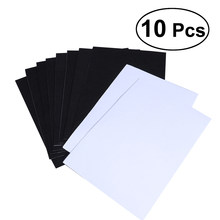 10 Sheets Blank Kraft Paper Self-adhesive Felt Sheets Multi-purpose for Art and Craft Making (Black)(China)