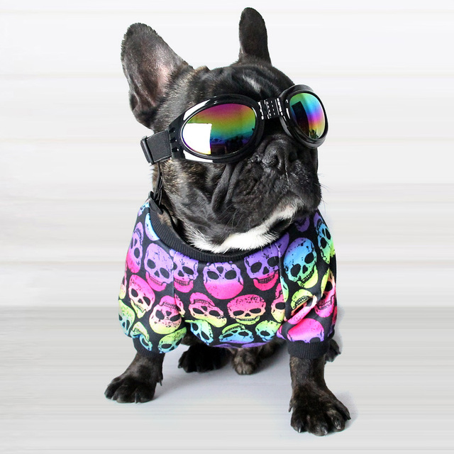 ecd9a967da25 Cotton French Bulldog Skull Print Vest Pet Dog Summer Clothes for Small  Dogs Pets Clothing Chihuahua Punk T-shirt Pug Costume