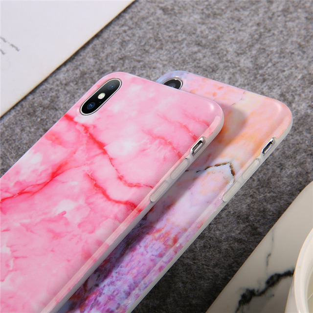 Silicone Gradient Marble Phone Case