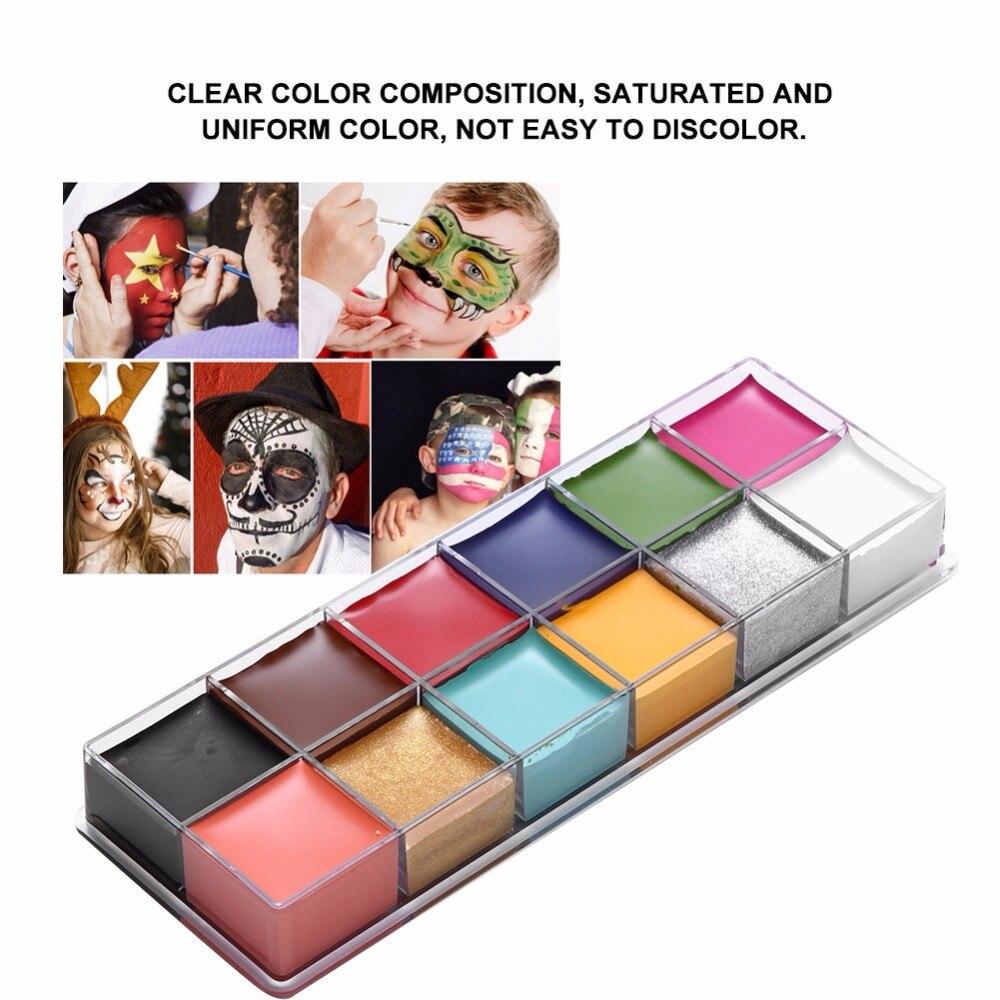 KöStlich 12 Farben Ölfarbe Gesicht Körper Malerei Dramatische Spezielle Effekte Make-up Fett Farbe Make-up Öl Farbe