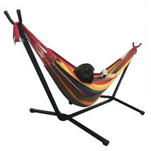 Portable Outdoor Polyester Hammock Set Green Suitable For Camping Travel Beach And Indoor Use US SHIPPING