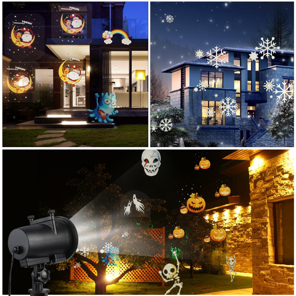 Image 5 - IP65 Halloween Led Party Anime Pattern Halloween Projector KTV Laser Projector christmas decorations for home Dropshipping-in Stage Lighting Effect from Lights & Lighting