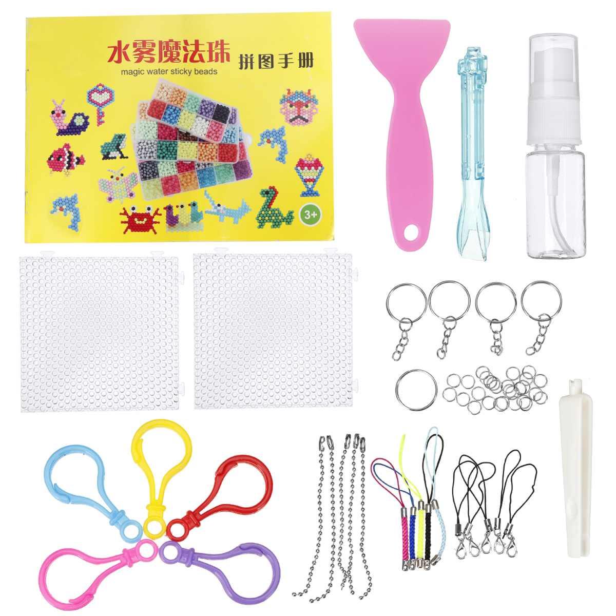 1100Pcs Aqua Refill Fuse Water Bead Sticky Pegboard DIY Craft Art Kids Toy Gift