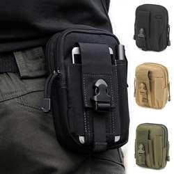 Для мужчин талии сумка Повседневное прочный поясная сумка Холст Многофункциональные Военные сумка на молнии Водонепроницаемый поясная
