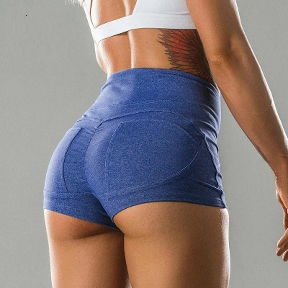 Ladies Summer Plus Size Yogs Pants Women Sports Gym Workout Skinny Shorts