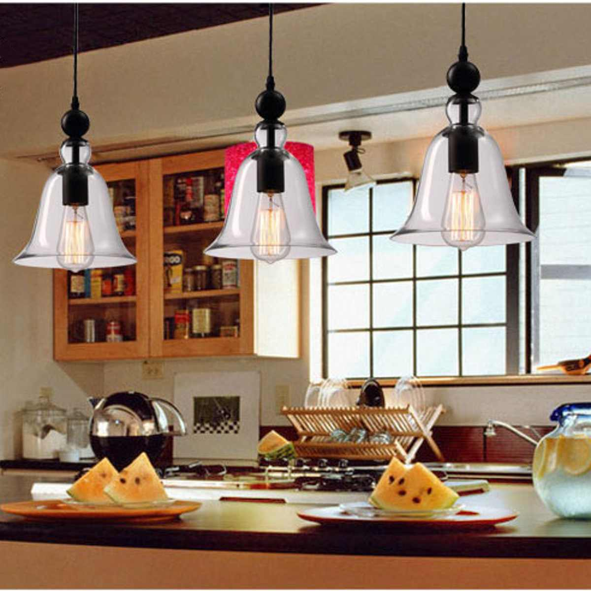 Retro Pendant Light Lamp Glass Iron Pendant Light Home LED Lamp Lighting With Bulb Industrial Design Lighting Fixture 2019 NewRetro Pendant Light Lamp Glass Iron Pendant Light Home LED Lamp Lighting With Bulb Industrial Design Lighting Fixture 2019 New