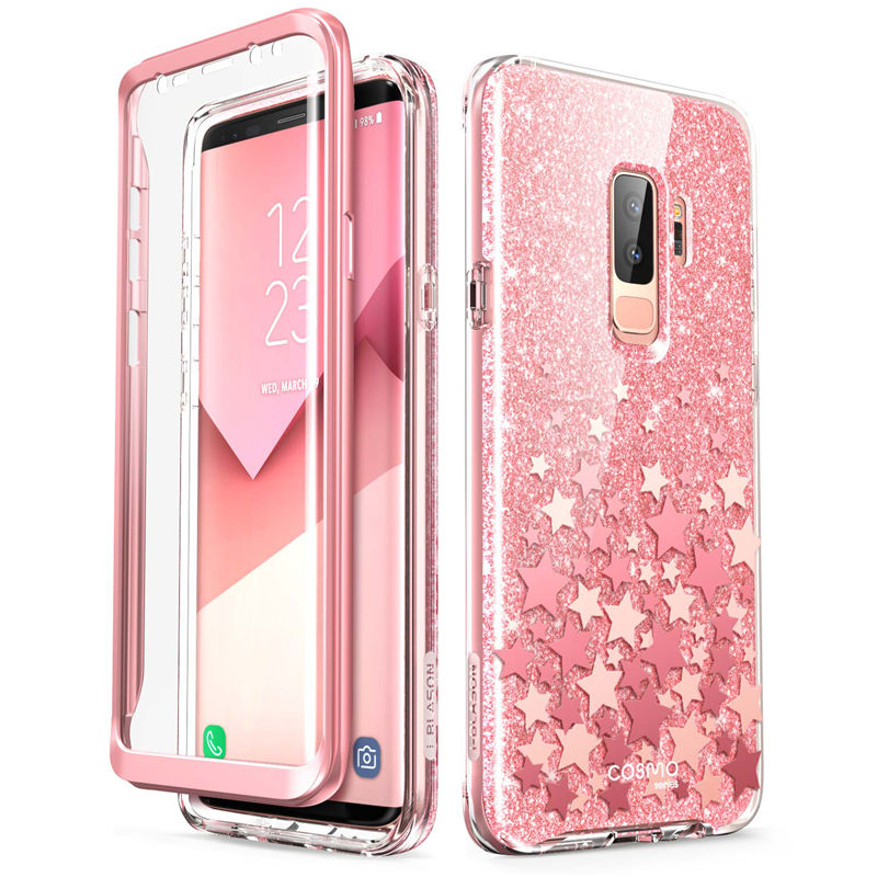 Cover For Samsung Galaxy S9 Case i Blason Cosmo Full Body Glitter Marble Bumper Protective Cover with Built in Screen ProtectorFitted Cases   -