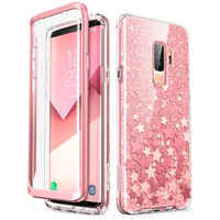 Cover For Samsung Galaxy S9 Case i-Blason Cosmo Full-Body Glitter Marble Bumper Protective Cover with Built-in Screen Protector