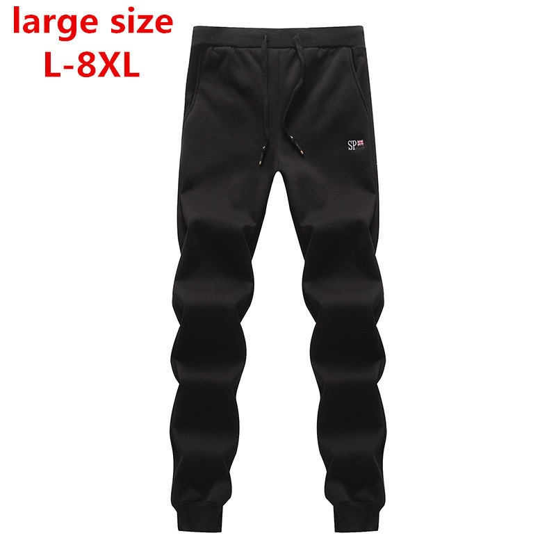 Pants Men Warm Heavyweight 6xl Zipper 8xl 7xl Fleece Outside Thick Large-Size