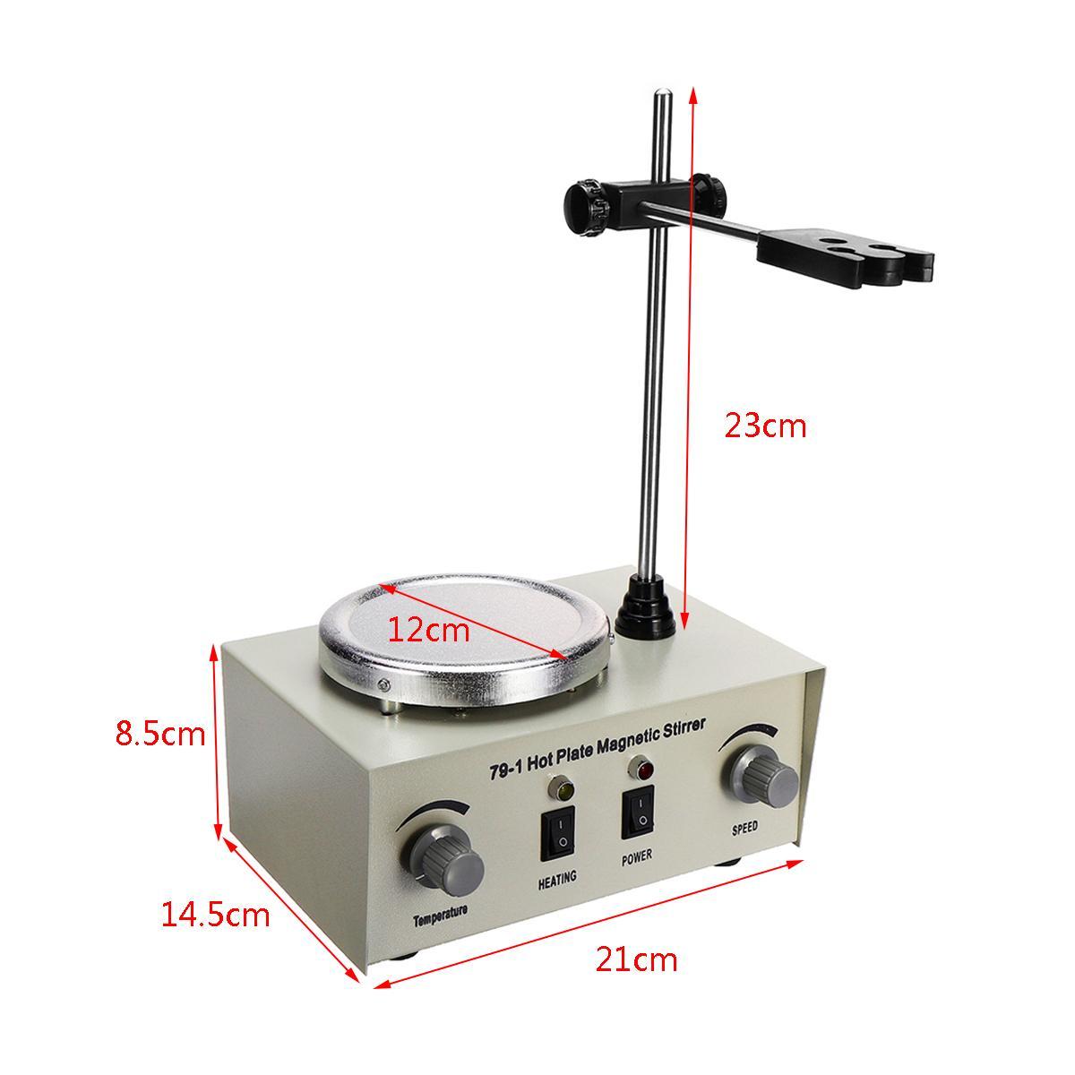 Mélangeur de double contrôle de chauffage de laboratoire US/AU/EU 79-1 110/220 V 250 W agitateur magnétique de plaque chaude 1000 ml aucune Protection de fusibles de bruit/Vibration - 4