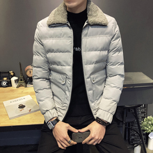 Winter Loose Coat Self-cultivation Thickening Cotton-padded Clothes Male parka jackets men windbreaker overcoat My14b