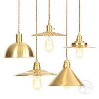 Copper Modern Postmodern Minimalist Metal Mirror e27 Pendant Light Gold Globe Loft Hanglamp Modern Lamp Kitchen Light Fixture
