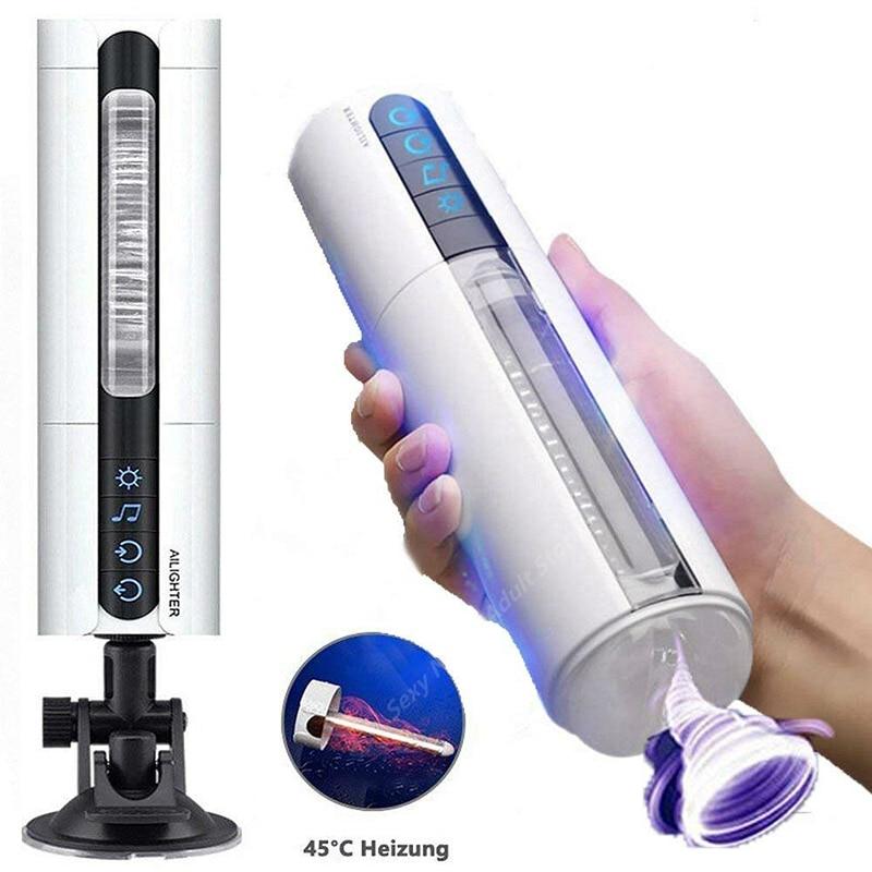 2019 Artificial Vagina Real Moaning Masturbation Cup Intelligent Heating Sucking Masturbator Vibration Pussy Sex Toy For