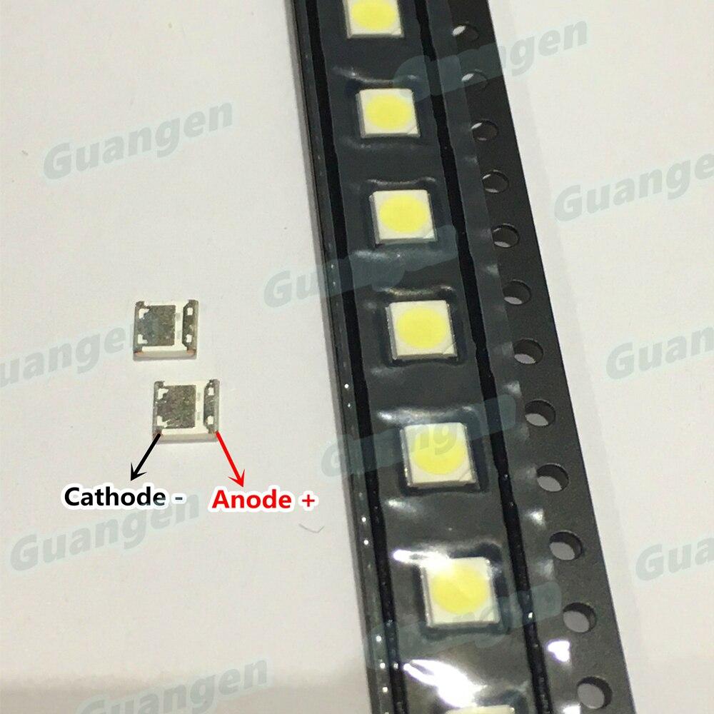 100pcs Original FOR WOOREE LED LED Backlight High Power LED 2W 6V 3535 Cool White LCD Backlight For TV NEW