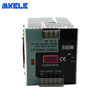 AC-DC 12V 24v 48V Single Output Switching Power Supply 37.5A 20.8A 10.4A 500W LP-500-24 For LED Strip With Digital Display