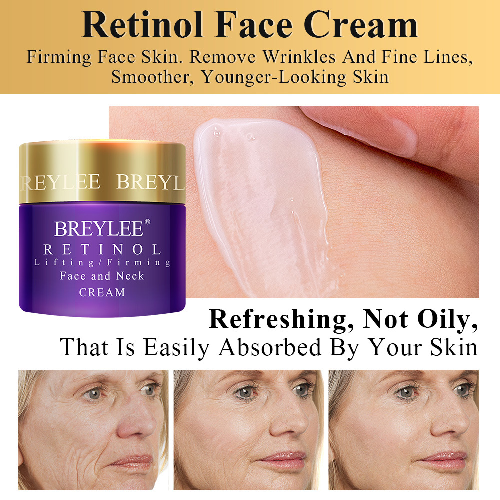 BREYLEE Retinol Face Cream Eye Cream Lifting/Firming Anti-aging Fade Wrinkles Fine Lines Facial Skin Care Ageless Remove Eye Bag