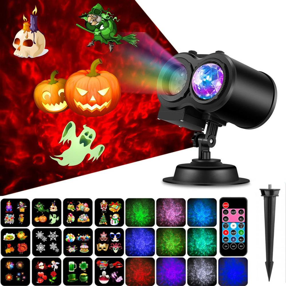 LED Waterproof Water Wave Light Projector with Remote Control Ocean Waves Ripple Effects for Christmas Parties Lawn Patio Yard