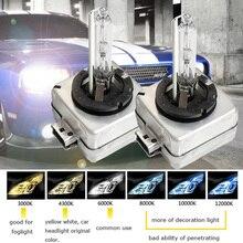 1 par xenon ds1 35w d1s 5000k 4300k branco quente luz do carro hid farol 6000k 8000k d1c 10000k d1c 12000k hid xenon lâmpada d1s d1r