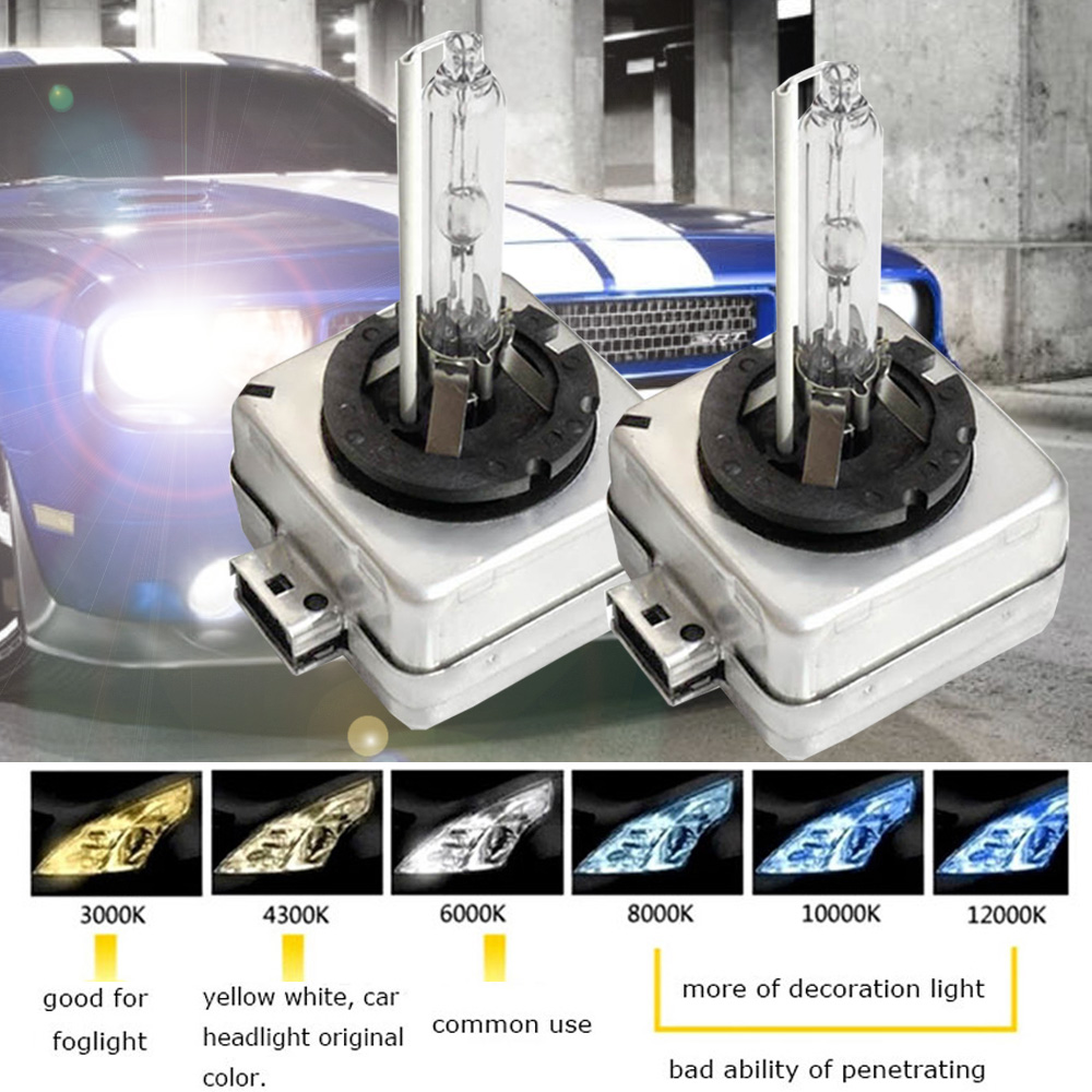 1pair <font><b>Xenon</b></font> DS1 35w <font><b>D1s</b></font> 5000k 4300k Warm White Car Light HID Headlight <font><b>6000k</b></font> 8000k D1c 10000k D1c 12000k Hid <font><b>Xenon</b></font> Bulb <font><b>D1s</b></font> D1R image