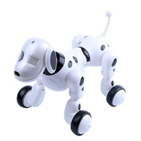 FBIL Wireless remote control smart robot dog Wang Xing electric dog early education educational toys for children(White)