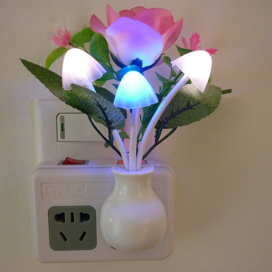Colorful Led Light Control Induction Night Light Energy Saving Mushroom Lamp