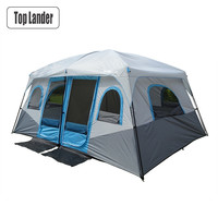 Large Camping Tent Outdoor Big Family Tent 8 10 12 Person Party Tent Waterproof Cabin Camp Anti UV Marquee Tents