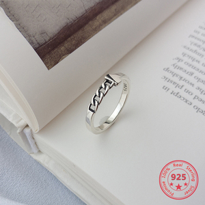 Image 1 - Factory Price 100% 925 Silver Rign Fashion Minimalism Delicate Chain Ring Fine Jewelry for Female