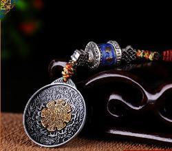 Modlitwa koła OM tybet Sidpaho zodiaku Vajra Dorje węzeł Amulet wisior kupić 2 dostać 1
