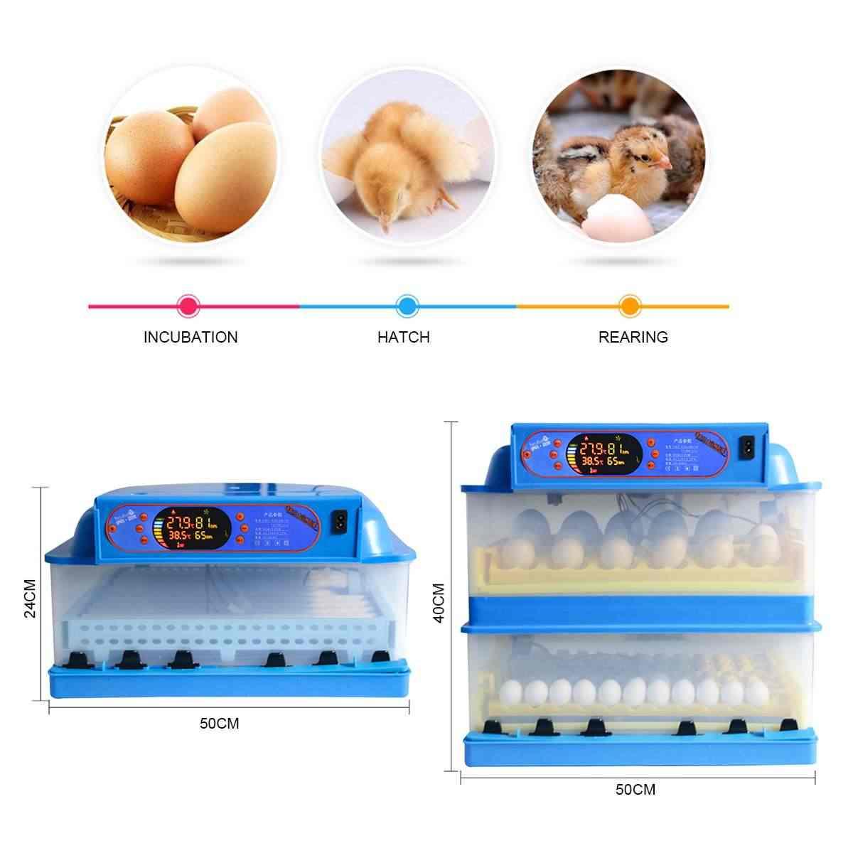 45 Вт 112 положение автоматический инкубатор для яиц светодиодный инкубатор для домашней птицы Hatcher полностью автоматическая домашняя инкубационная машина 220 В