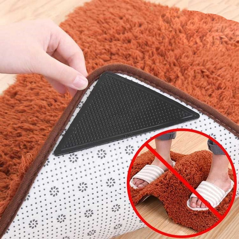 4pcs/set Carpet Non-slip Patch Bath Mat Sticker Anti Slip Shower Strips Flooring Bathroom Anti Slip Safety Sticker Mat Pad(China)