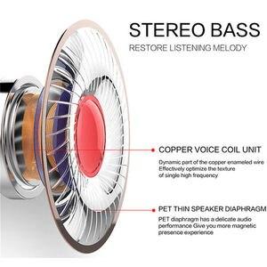 Image 4 - FULL J02 słuchawka douszna z mikro typ 3.5Mm Stereo ciężki bas muzyka słuchawki z redukcją hałasu