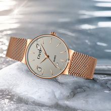 CIVO Ultra thin Ladies Watch Luxury Women Watches Waterproof Rose Gold Steel Quartz Date Wrist Watch montre femme Clock relogio aesop tungsten steel watch women rose gold bracelet quartz wristwatch elegant thin ladies clock montre femme relogio feminino