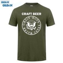 GILDAN T Shits Printing Short Sleeve Casual O-neck Cotton Craft Beer T-shirt