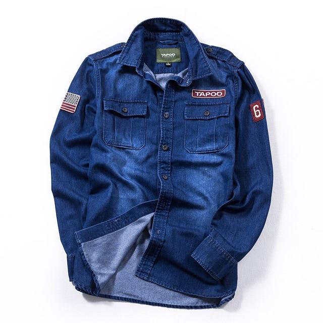 61655a1f09 Moda de hombre vestido Camisas manga larga placas Multi bolsillos Jeep camisa  camisas casuales hombre M