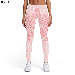 KYKU Brand Flower Leggings Women Pattern Printed pants Harajuku Spandex Vintage Trousers Elastic Womens Leggings Pants Casual