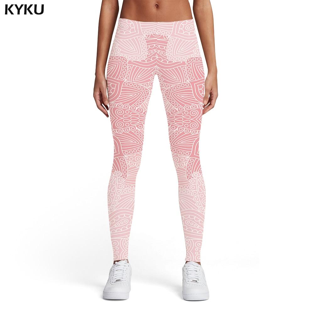 KYKU Brand Flower   Leggings   Women Pattern Printed pants Harajuku Spandex Vintage Trousers Elastic Womens   Leggings   Pants Casual