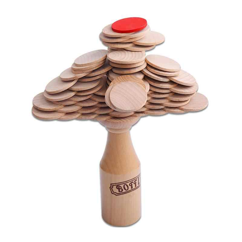 Wood Bottle Challenge Match Stacking Entertainment Pile Up Balance Training Game for Adults Club Kids Party Bar